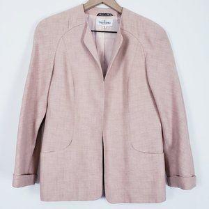 Valentino Miss V Vintage Pink Open Blazer 44/10 Lg